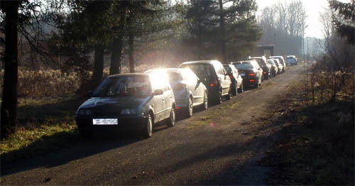 Plaćenički vozni park činilo je 11 cestovnih prometala
